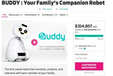 Indiegogo, source de revenu pour Buddy ?