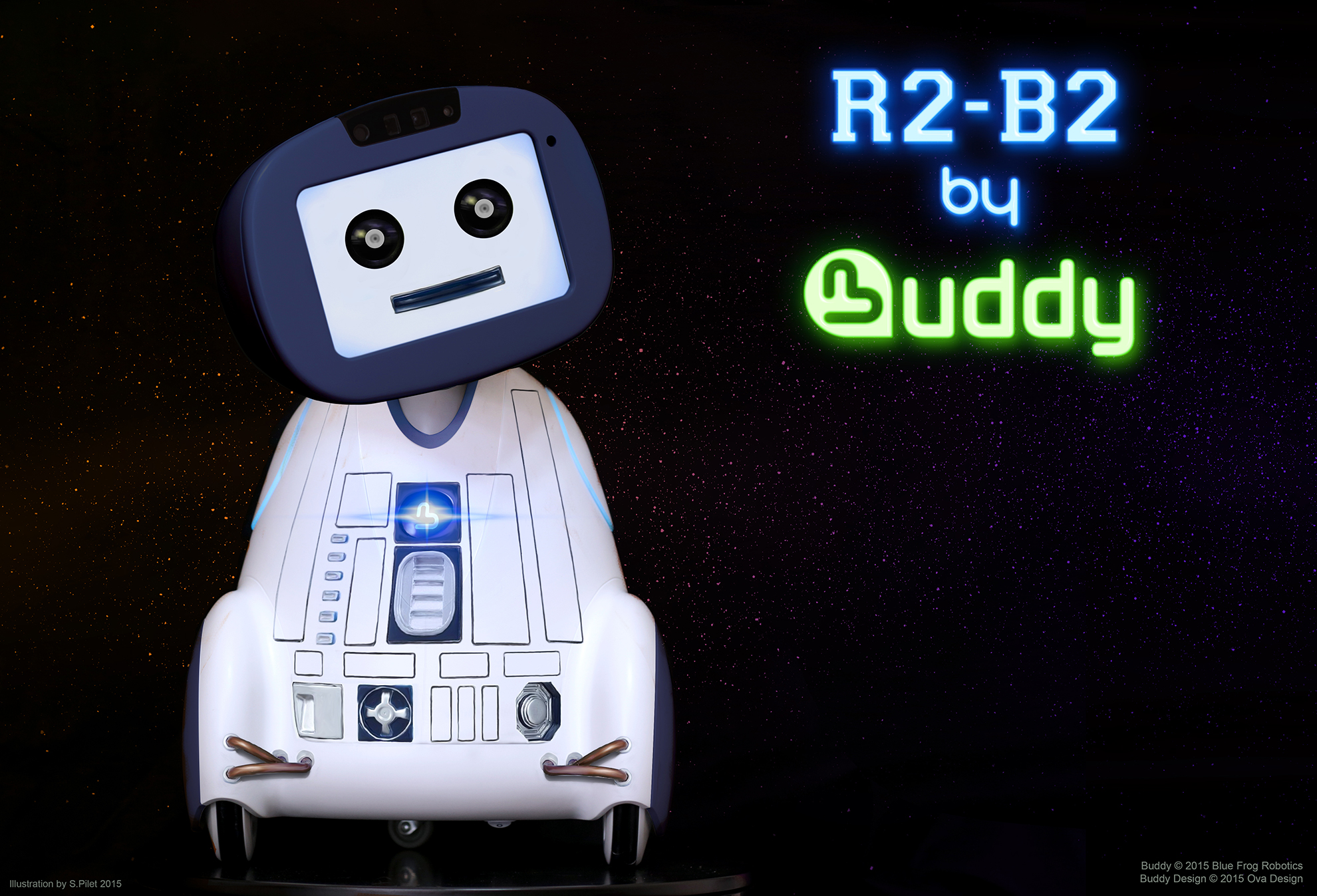 BUDDY R2-B2 Blue Frog Robotics