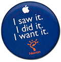 Badge Apple Newton MacWorld Boston
