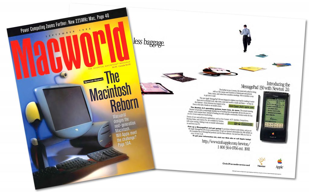 MacWorld September 1996 Newton 130 Ad